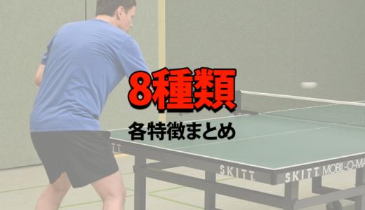 卓球 レシーブ8種類【各特徴まとめ】